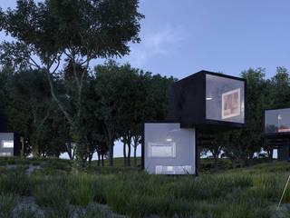 Black Box Casas minimalistas de BenSin Estudio de Visualización Minimalista