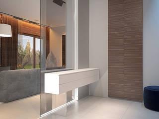 Eco-minimal Dmitriy Khanin Коридор, прихожая и лестница в стиле минимализм Дерево Коричневый