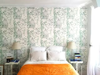 Dotty Bird Wallpaper Modern walls & floors by Laura Felicity Design Modern