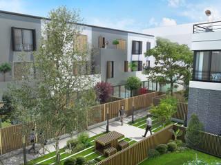Modern style balcony, porch & terrace by atelier AMEG Modern