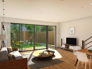 Casas estilo moderno: ideas, arquitectura e imágenes de atelier AMEG Moderno
