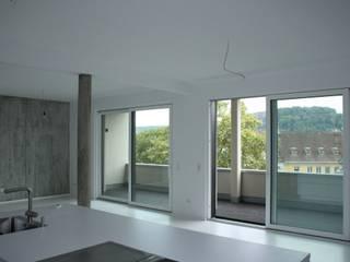 Penthouse Hauser - Architektur Minimalistische Esszimmer