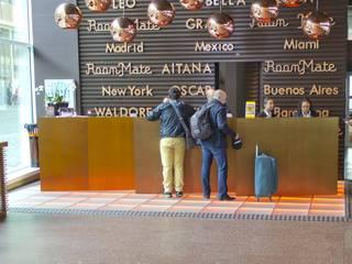 Terrazzo Vloer Hotel AITANA Amsterdam Receptie:  Hotels door Artiflex Terrazzo