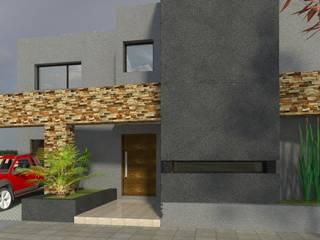 VIVIENDA MINIMALISTA: Casas de estilo minimalista por Obras & Proyectos