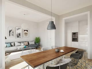 Modern dining room by Berga&Gonzalez - arquitectura y render Modern