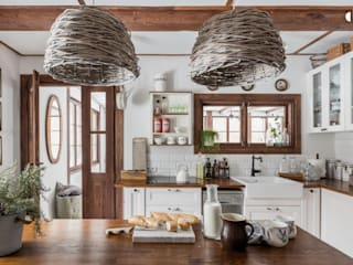 dziurdziaprojekt Rustic style kitchen Wood