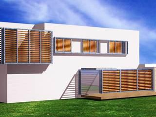 VIVIENDA UNIFAMILIAR ALICANTE Casas de estilo mediterráneo de iO arquitectura Mediterráneo