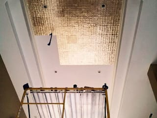 Gold Capiz Shell in Kentucky Home ShellShock Designs Classic style corridor, hallway and stairs Tiles Multicolored