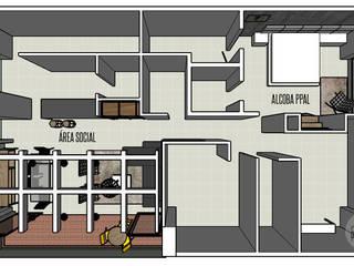 INDUSTRIAL LIVINGROOM: Salas de estilo  por DeftoHomeStudio INC, Industrial
