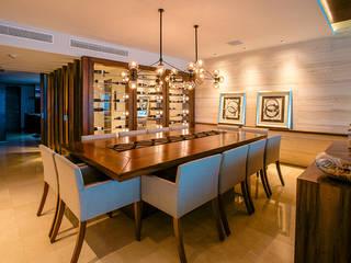 Art.chitecture, Taller de Arquitectura e Interiorismo 📍 Cancún, México. Modern Dining Room Wood effect