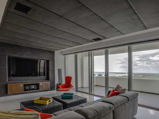 Modern media room by Art.chitecture, Taller de Arquitectura e Interiorismo 📍 Cancún, México. Modern