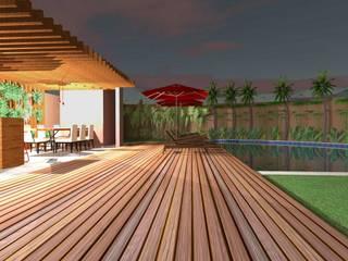Projeto de Área de LAzer Piscinas modernas por Oficina Arquitetura e Construções Moderno