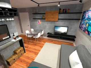 Projeto de Interiores de um Apartamento por Oficina Arquitetura e Construções Moderno