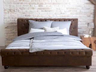 Sunchairs GmbH & Co.KG BedroomBeds & headboards Kulit Imitasi Brown
