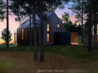 WoodHouse Dmitriy Khanin Дома в стиле минимализм Дерево Бежевый