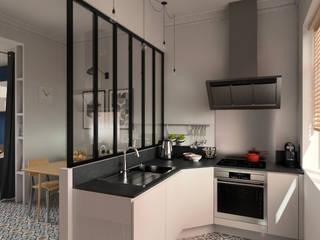 Rénovation d'un appartement T2 à Lille, conception 3D:  de style  par Andara