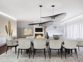 Salle à manger moderne par DZINE & CO, Arquitectura e Design de Interiores Moderne