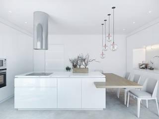COZINHA: Cozinhas  por DZINE & CO, Arquitectura e Design de Interiores,Moderno