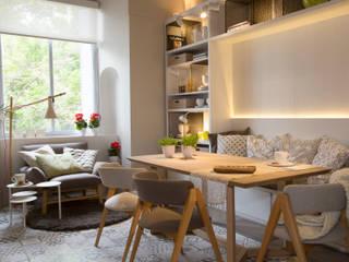 Vista mueble comedor Comedores de estilo moderno de Estudio de iluminación Giuliana Nieva Moderno