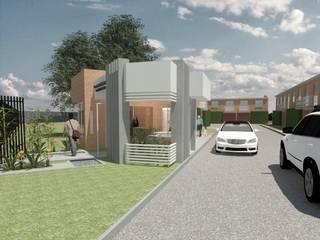 PROYECTO PORTERIA - Condominio Club El Melao, Cali. Casas modernas de MODOS Arquitectura Moderno