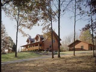 Casa a medida Casas de estilo rural de Casasdemaderanatural Rural