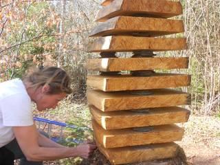 Grain de bois Jardin original par Cécile H Éclectique
