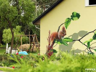 Casas de estilo rural de Wandgestaltung Graffiti Airbrush von Appolloart Rural