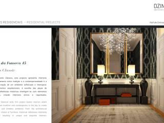 DZINE & CO, Arquitectura e Design de Interiores ทางเดินสไตล์คลาสสิกห้องโถงและบันได