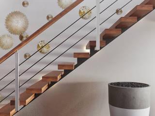 DZINE & CO, Arquitectura e Design de Interiores ห้องโถงทางเดินและบันไดสมัยใหม่