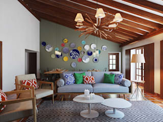 Country style hotels by DZINE & CO, Arquitectura e Design de Interiores Country