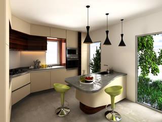 Cozinha Lausanne: Cozinhas  por Mdimension,Minimalista