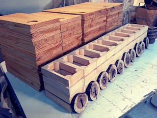 Tábuas e Marcadores de mesa, Cestos de pão, feitos por encomenda para a Charcutaria Lisboa!:   por Pode Ser!