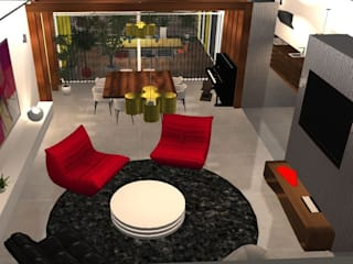 Projet de maison contemporaine ouverte sur l'extérieure Salon moderne par MY DECORUM Moderne