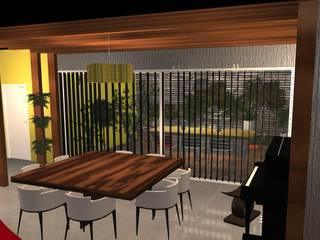 Projet de maison contemporaine ouverte sur l'extérieure Salle à manger moderne par MY DECORUM Moderne