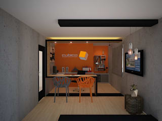 Constructora Asvial S.A de C.V. Office spaces & stores Iron/Steel Orange