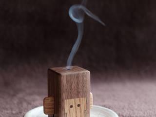 木の香炉: 木工房やまめ屋が手掛けた現代のです。,モダン