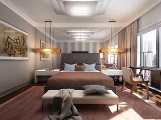 Dormitorios de estilo  de KAPRANDESIGN