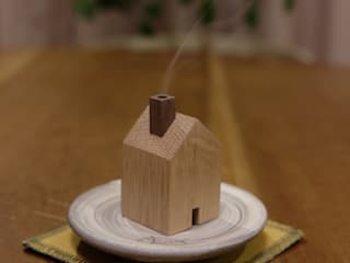 木の家の香炉: 木工房やまめ屋が手掛けたです。