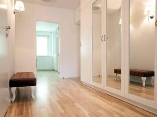 Mieszkanie na Żytniej Klasyczny korytarz, przedpokój i schody od ABU Wnętrza Klasyczny