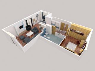 Rzut mieszkania: styl , w kategorii Salon zaprojektowany przez Jaku Design