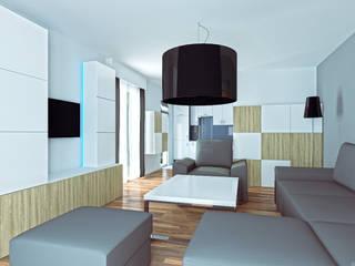 Wizualizacja salonu: styl , w kategorii Salon zaprojektowany przez Jaku Design