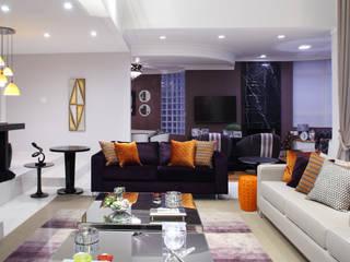 Sala de estar - Residência Alphaville Tamboré 3 Studio 262 - arquitetura interiores paisagismo Salas de estar modernas