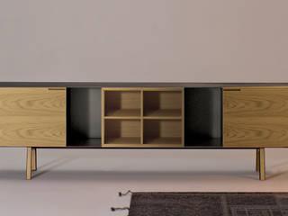 MADIA SKIN : Soggiorno in stile  di Studio Architettura e Design Giovanna Azzarello