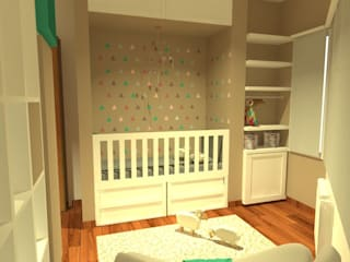Estudio BDesign Nursery/kid's room Wood White