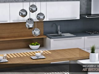 EN+SA MİMARİ TASARIM DEKORASYON MOB.İNŞ.SAN. VE TİC .LTD. ŞTİ – art mutfak: minimalist tarz , Minimalist