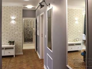Modern Corridor, Hallway and Staircase by Koncepcja Wnętrz Modern