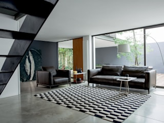 Black Collection - Living - Bowie Sofa Alberta Pacific Furniture Ruang Keluarga Modern