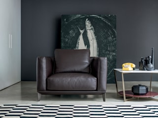 Black Collection - Living - Bowie Sofa Alberta Pacific Furniture 现代客厅設計點子、靈感 & 圖片