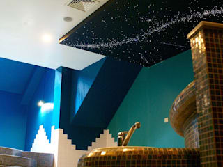 Fiber Optic Star Ceiling Bathroom with Milky Way + Shooting stars MyCosmos Mediterrane hotels