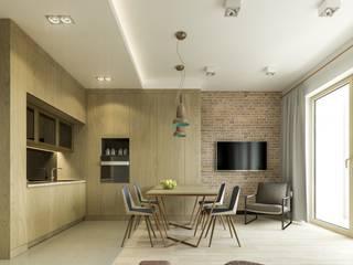 Warszawa Wola - mieszkanie 46 m kw. Nowoczesna kuchnia od Casa Marvell Nowoczesny